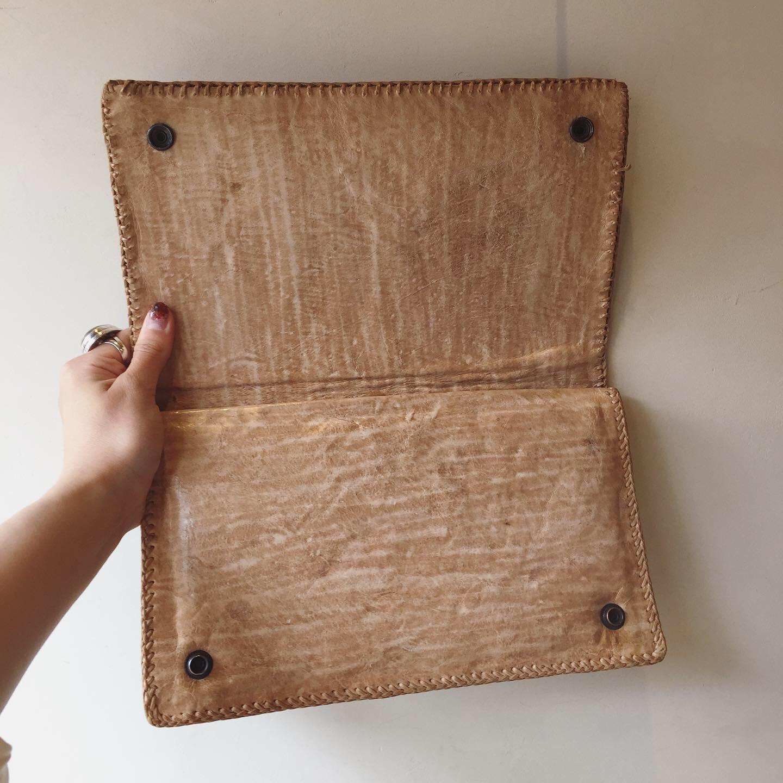 vintage leather crutch bag