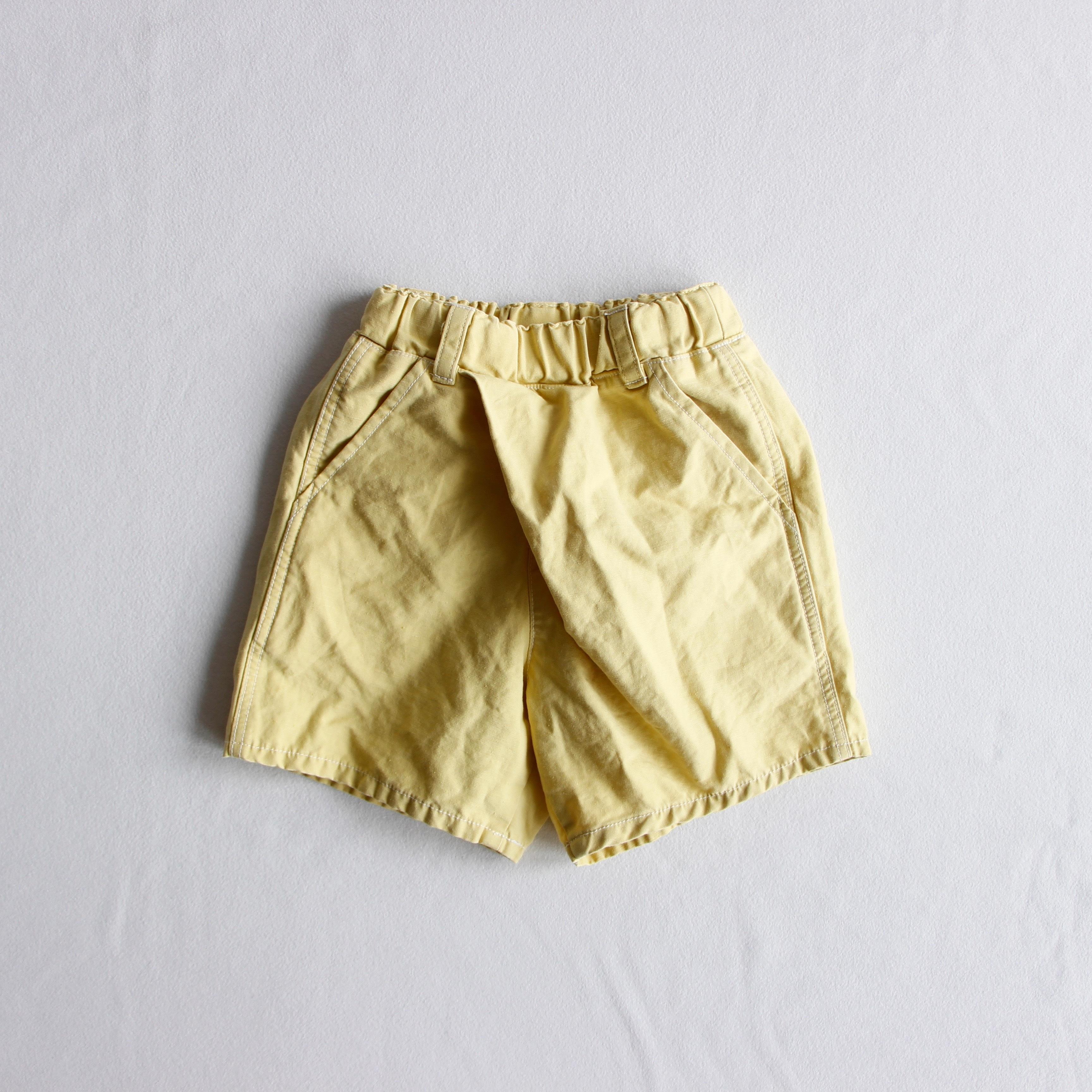 《mimi poupons 2019SS》ショートタイパンツ / yellow / 2・4・6Y