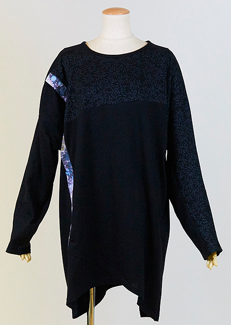 gouk侍 羽織を着ているような雰囲気のトップス GGD28-T817 BK/MM