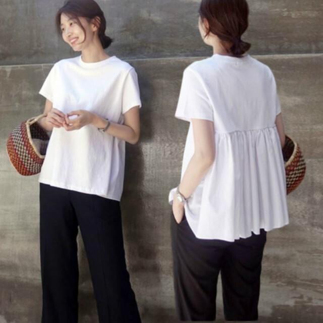 004【即納】】Tシャツ トップス レディース 半袖 19ss-022【メール便可】2020春夏新作