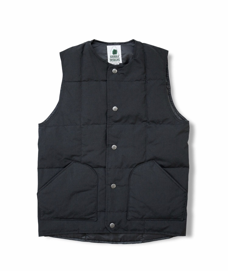 SIERRA DESIGNS  CREW NECK DOWN VEST / Black
