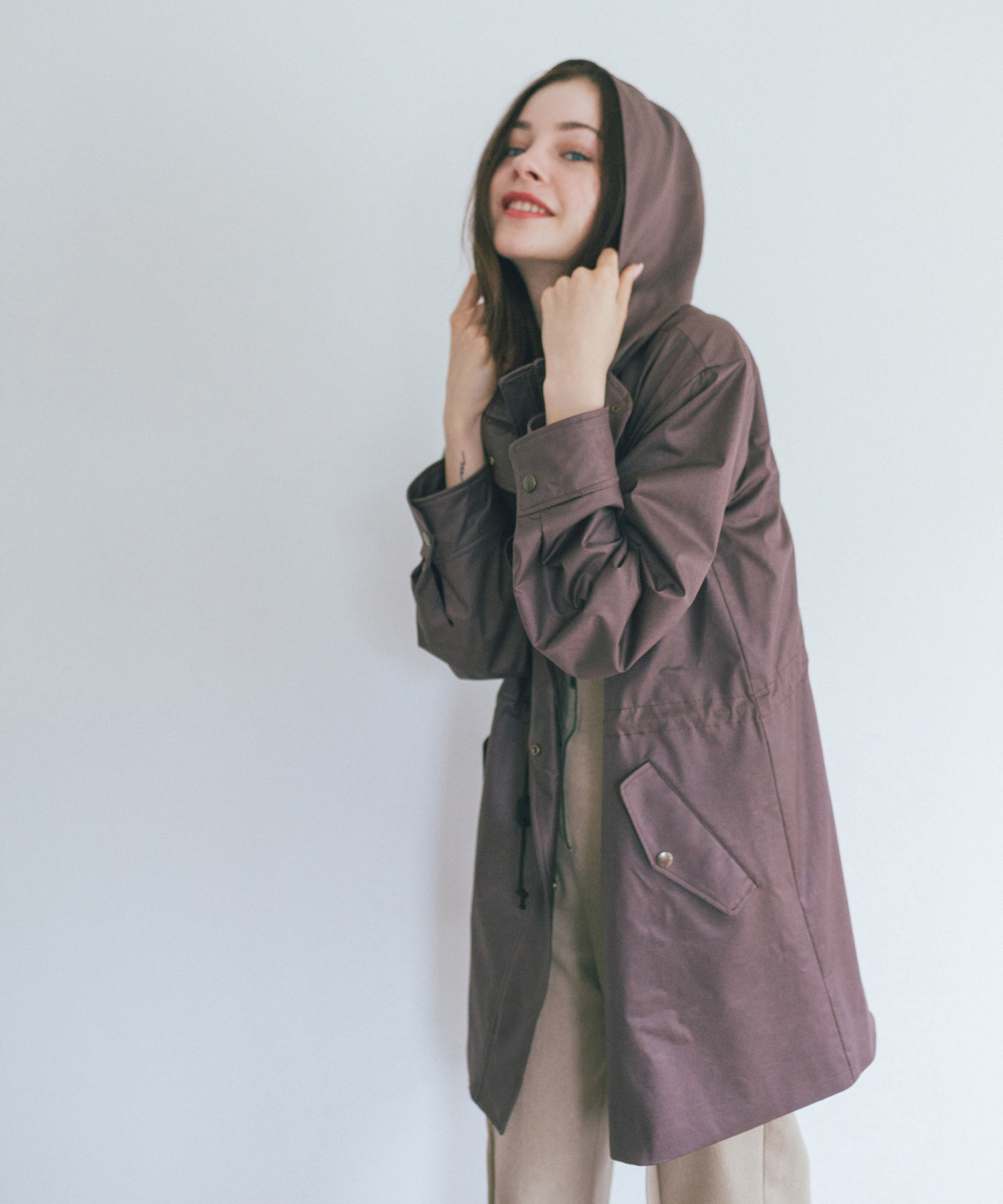 df19AW-13 F/LEATHER MS COAT (brown)