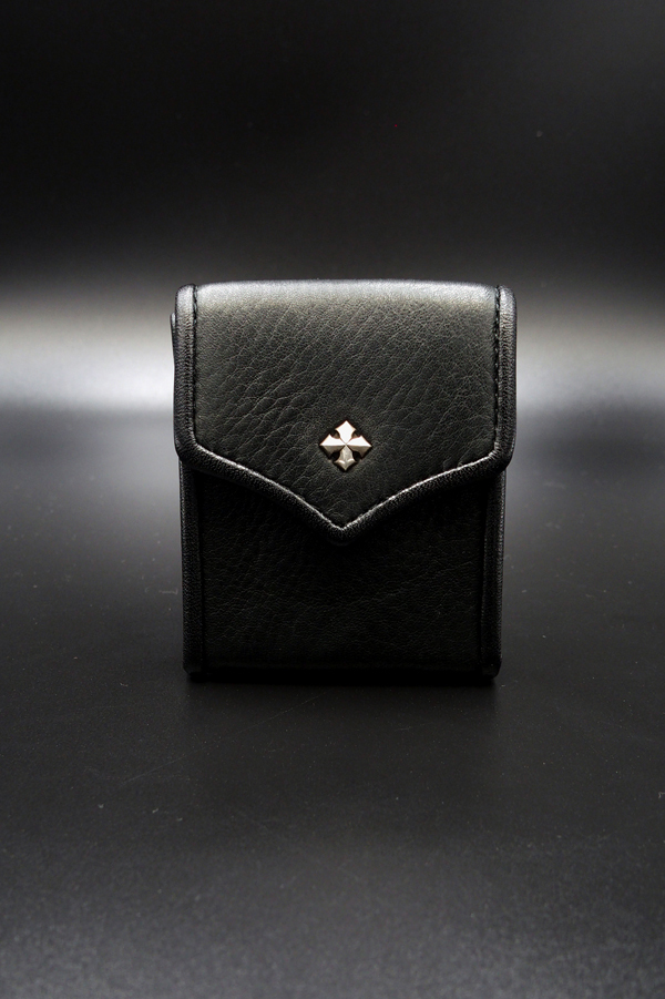 Item No.0308: Small Rich Coin Case1/Baby calf Black