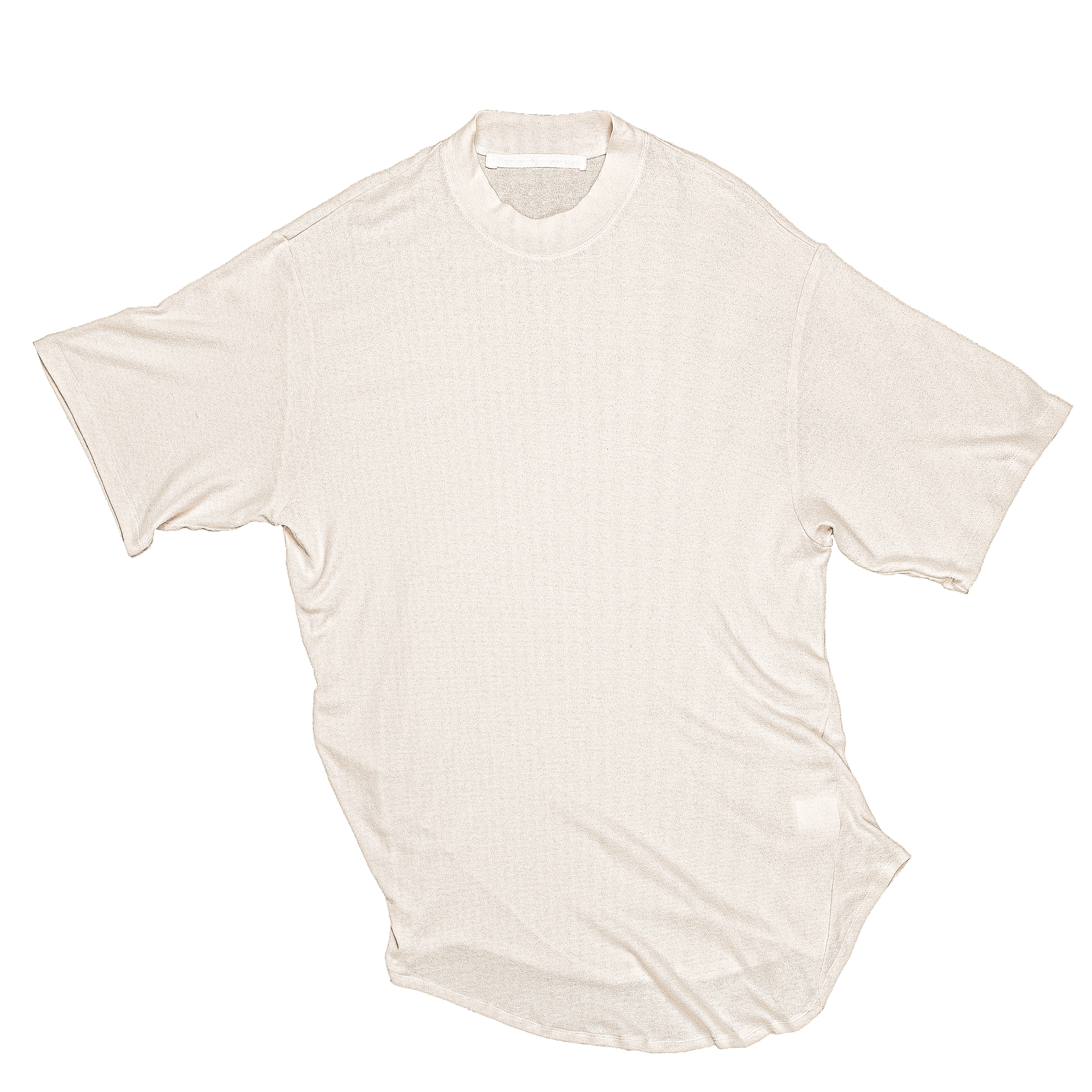 667CUM10-LIGHT BEIGE / ドレーピング Tシャツ