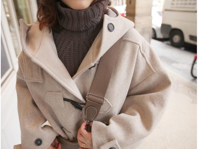 07f34668309e91 ... 大きいサイズ ロング アウター レディースダッフルコート ジャケット 冬 冬新作. 首周りまでしっかり覆うフードが暖かい☆ダッフルコート。