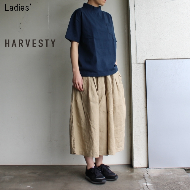 《18SS》HARVESTY リネンキュロットスカート A21804 (BEIGE)