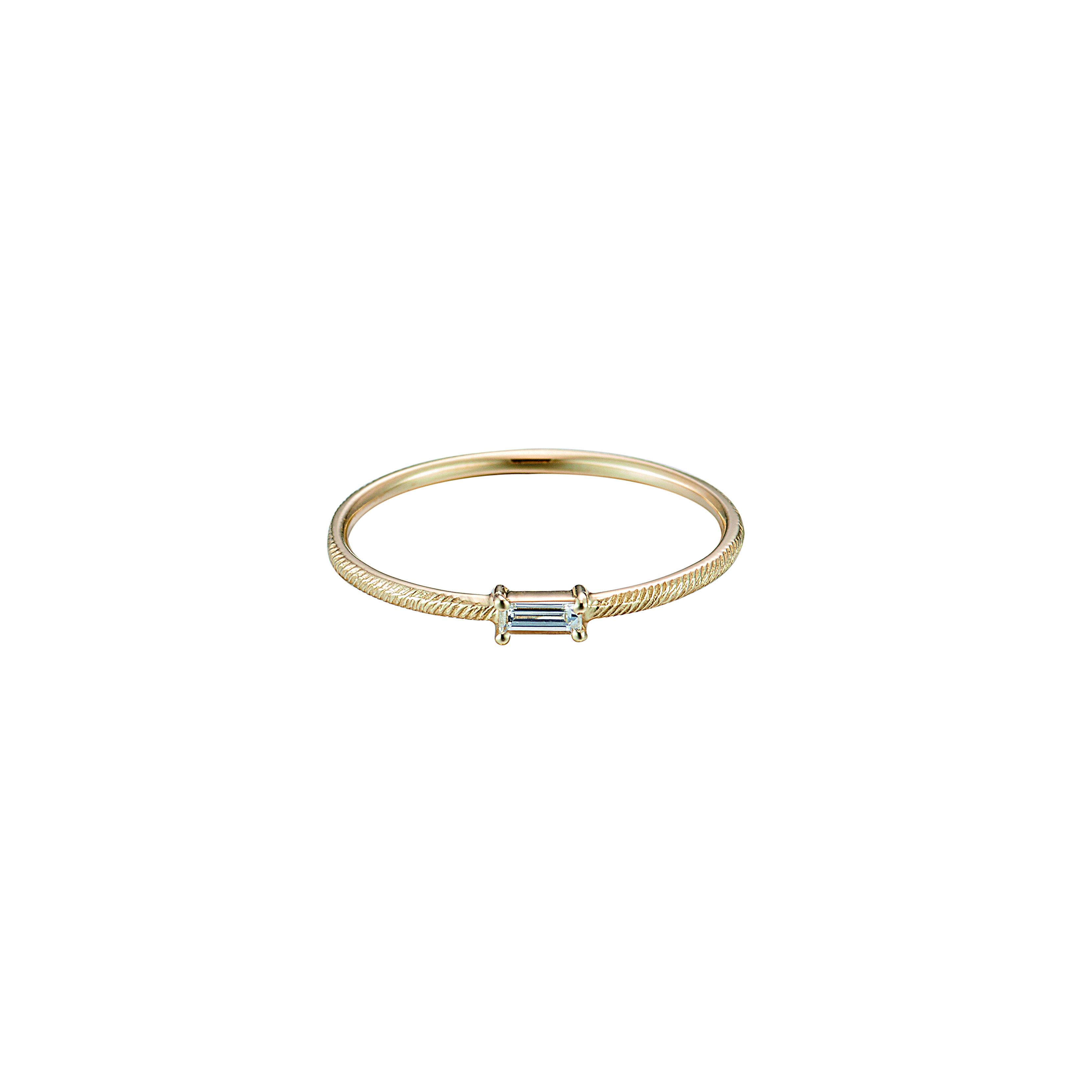 Baguette Cut Diamond Ring / K18YG