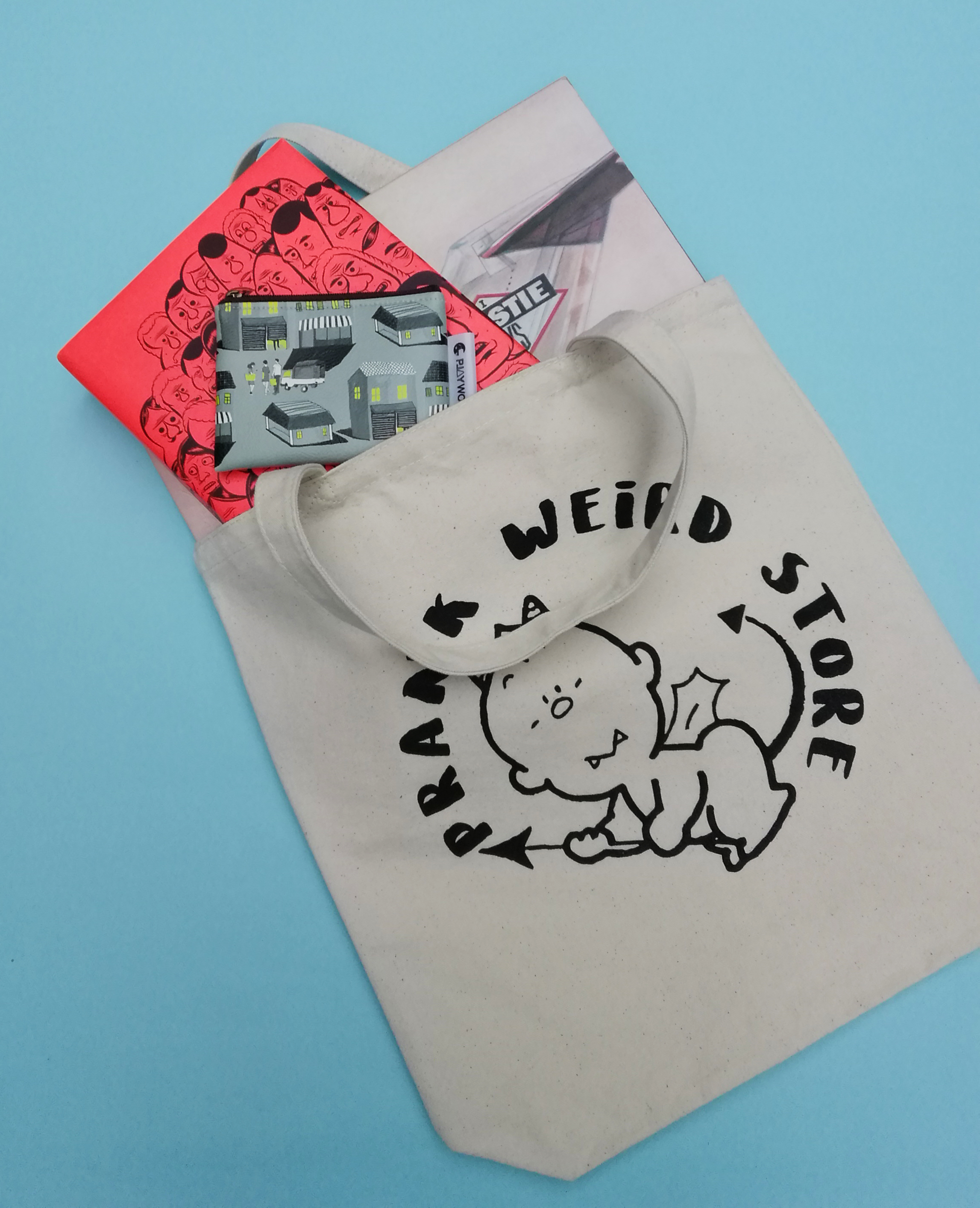 PRANK Weird Store LITTLE DEVIL Tote Bag