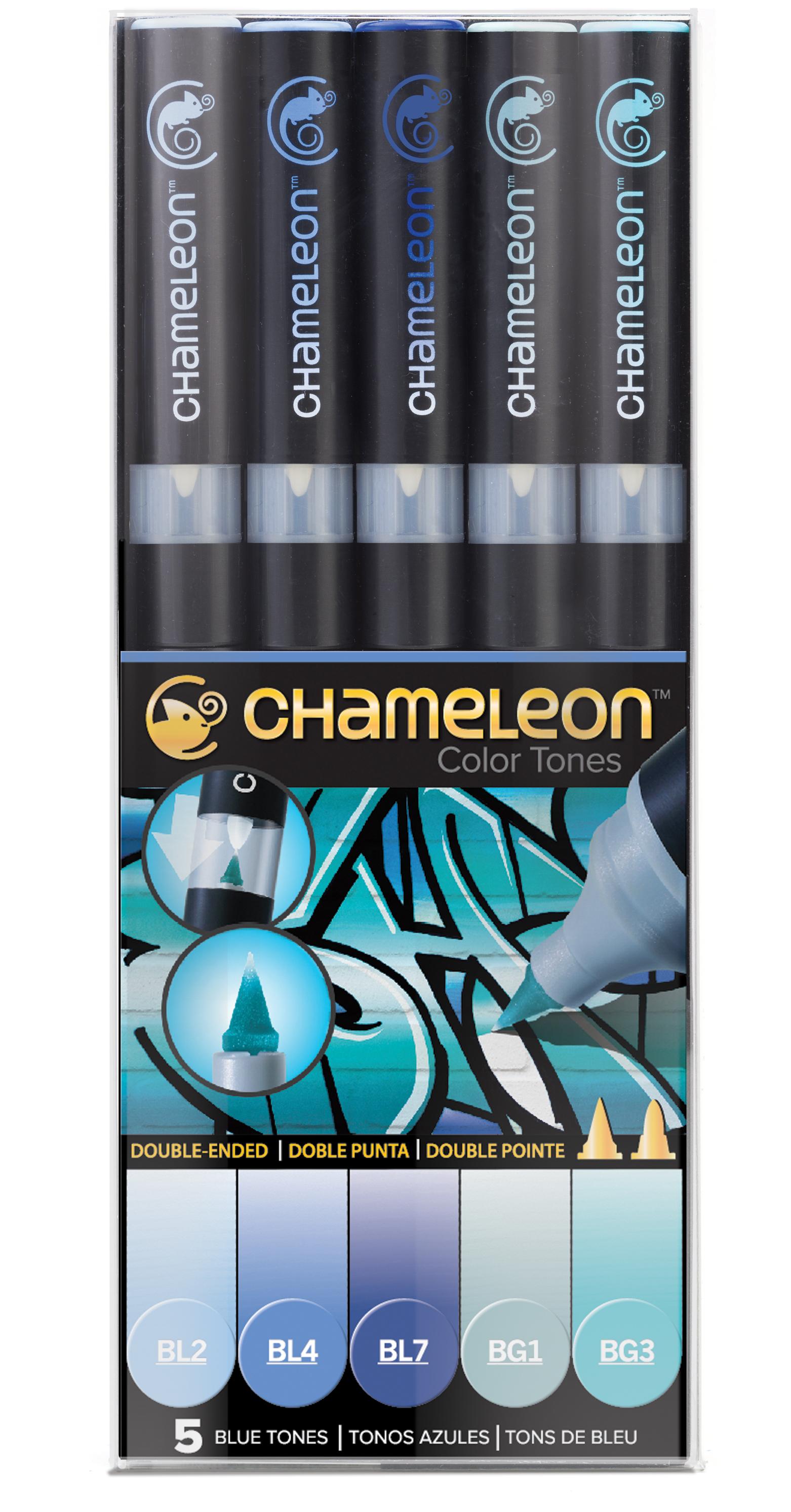 Chameleon Pen 5 Pen Blue Set (カメレオンペン 5本入りブルーセット)