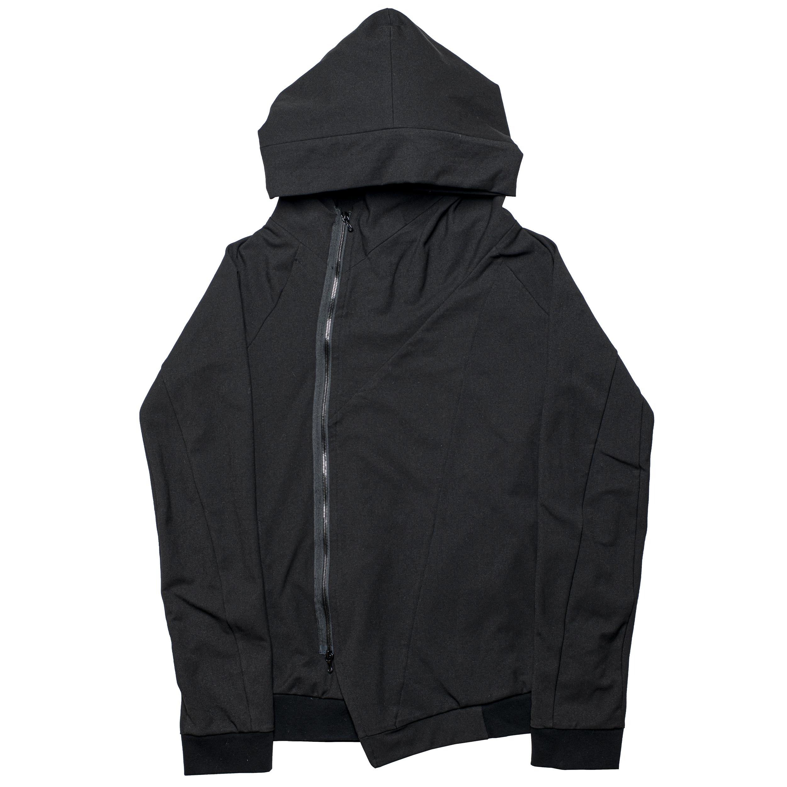 678BLM1-BLACK / ジオメトリックフーデットジャケット