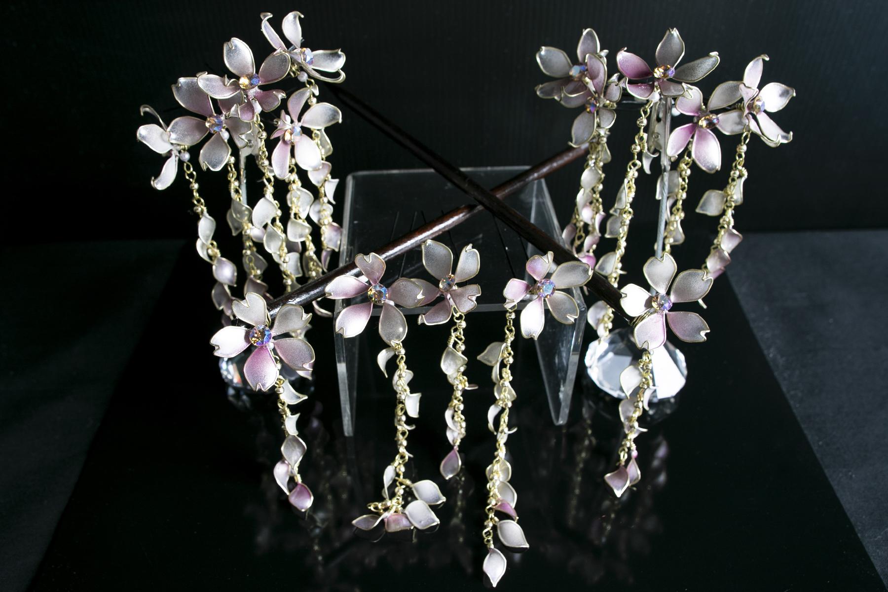 【絢爛】ー灰銀桜 cherry of ash silver
