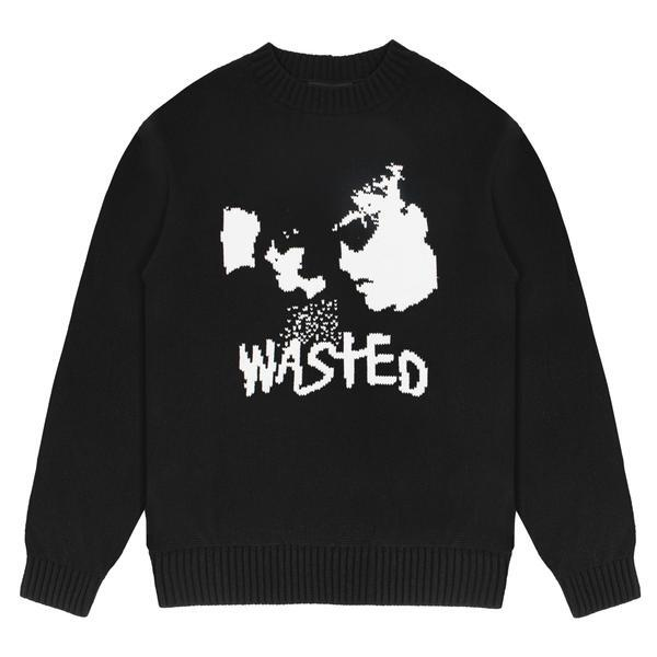 WASTED PARIS Youth Sweater BLACK