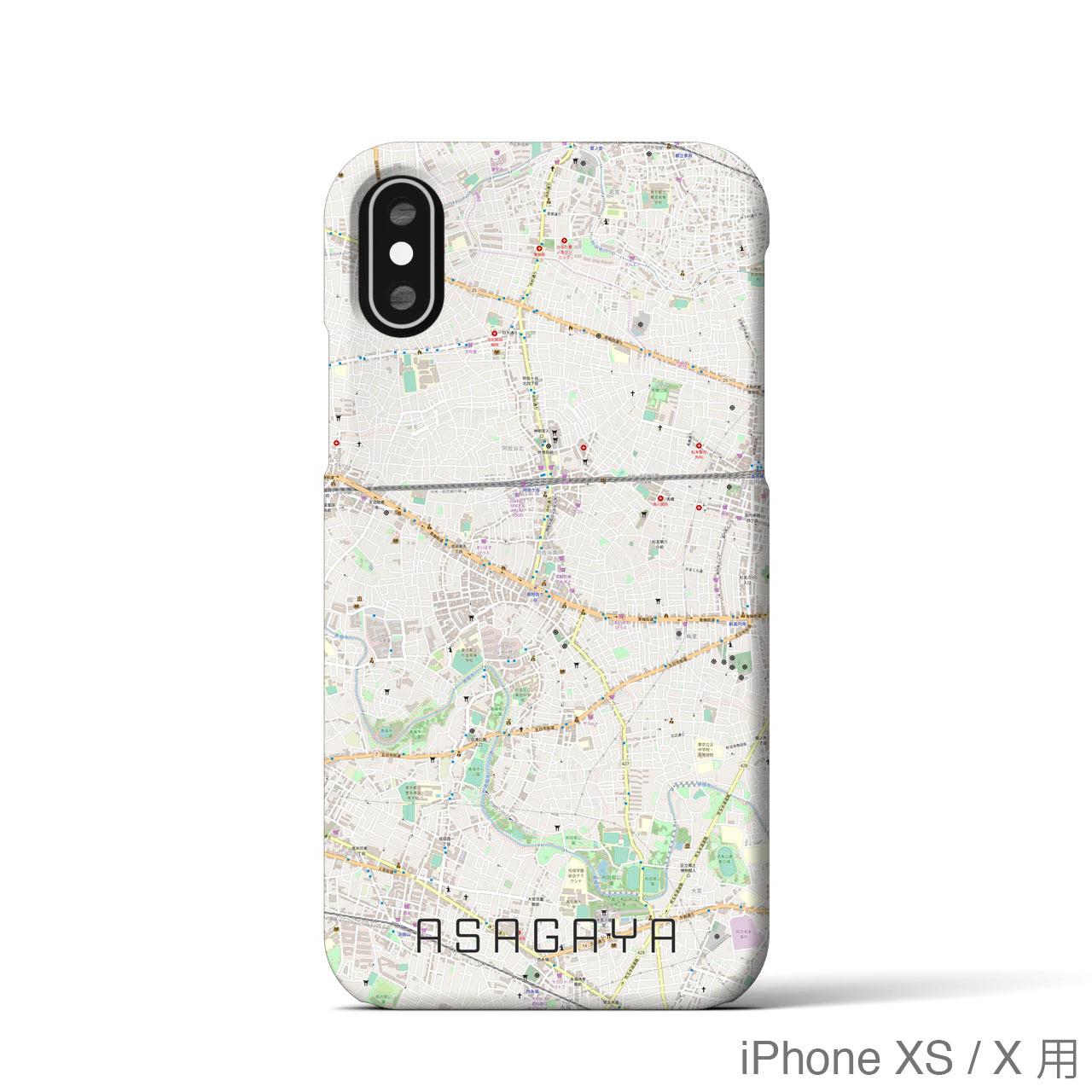 【阿佐ヶ谷】地図柄iPhoneケース(バックカバータイプ・ナチュラル)