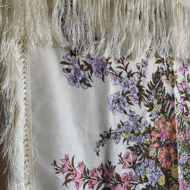 vintage fringe scarf