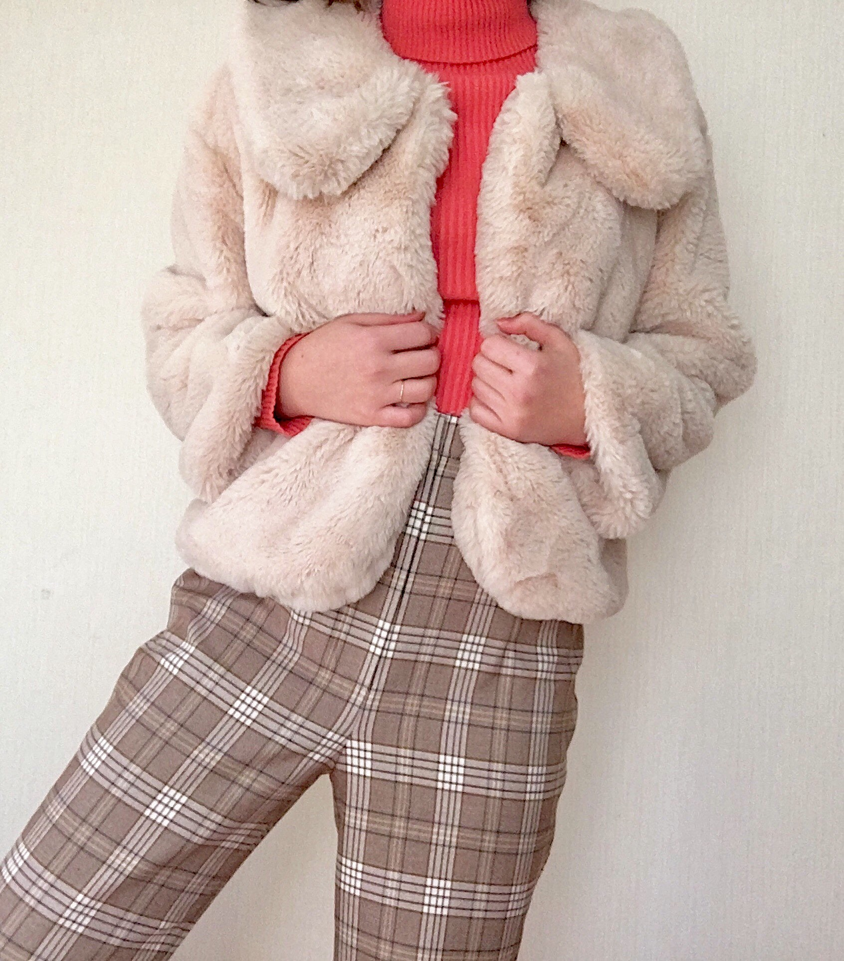Collar Fur Coat