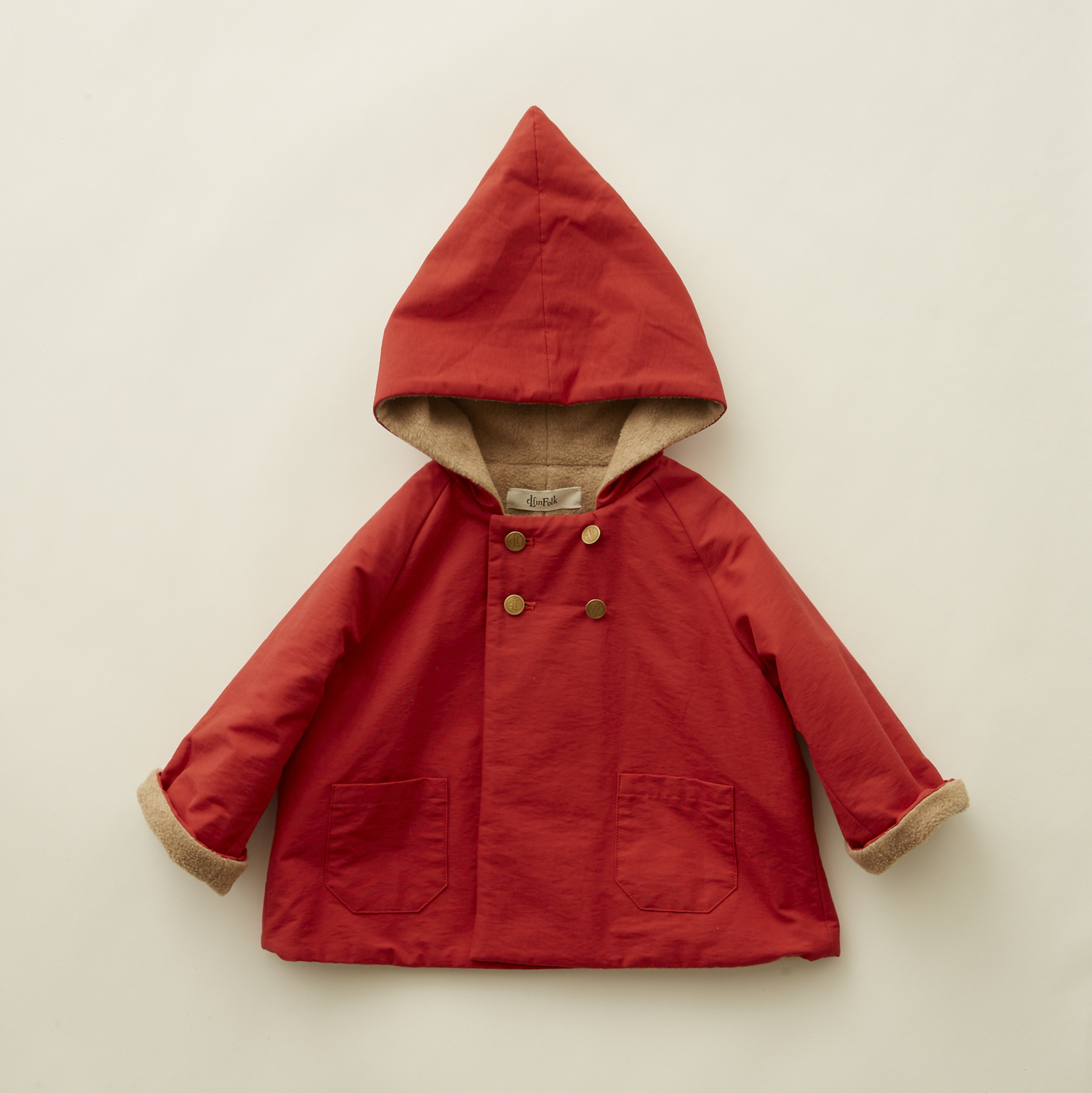 《eLfinFolk 2020AW》elf coat / red / 90-100cm