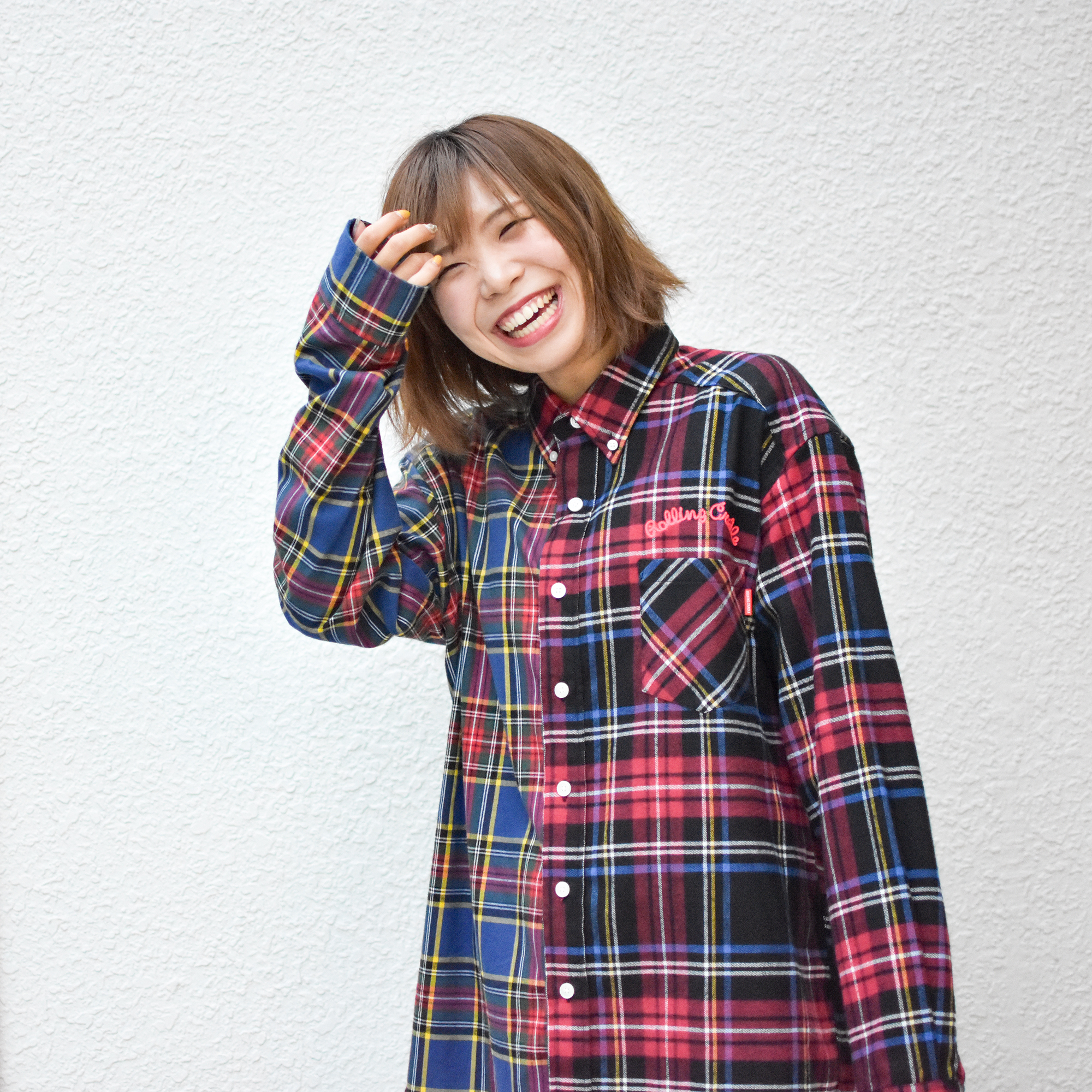 【送料無料】ROLLING CRADLE(ロリクレ) | CHECK CHECK BIG SHIRT / Blue-Black