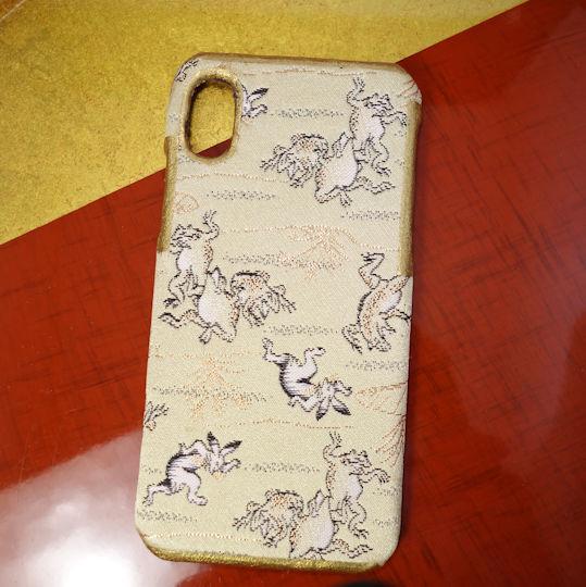 9fa071ae6f 西陣織スマホケース/鳥獣人物戯画【対応機種:iPhoneXR】 | 富坂綜絖店