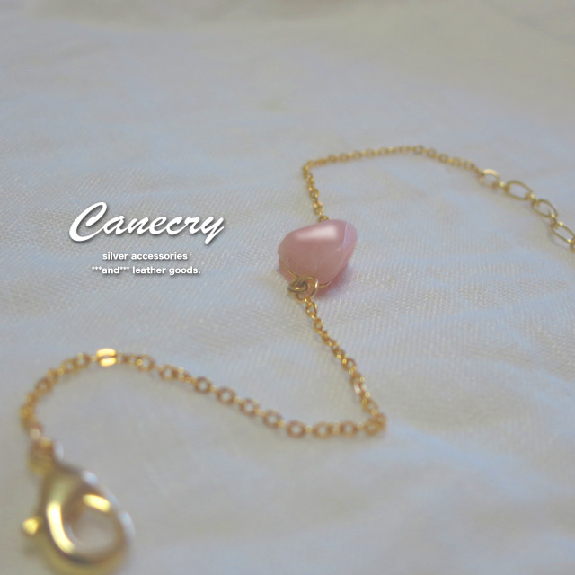 ピンクオパールのブレスレット
