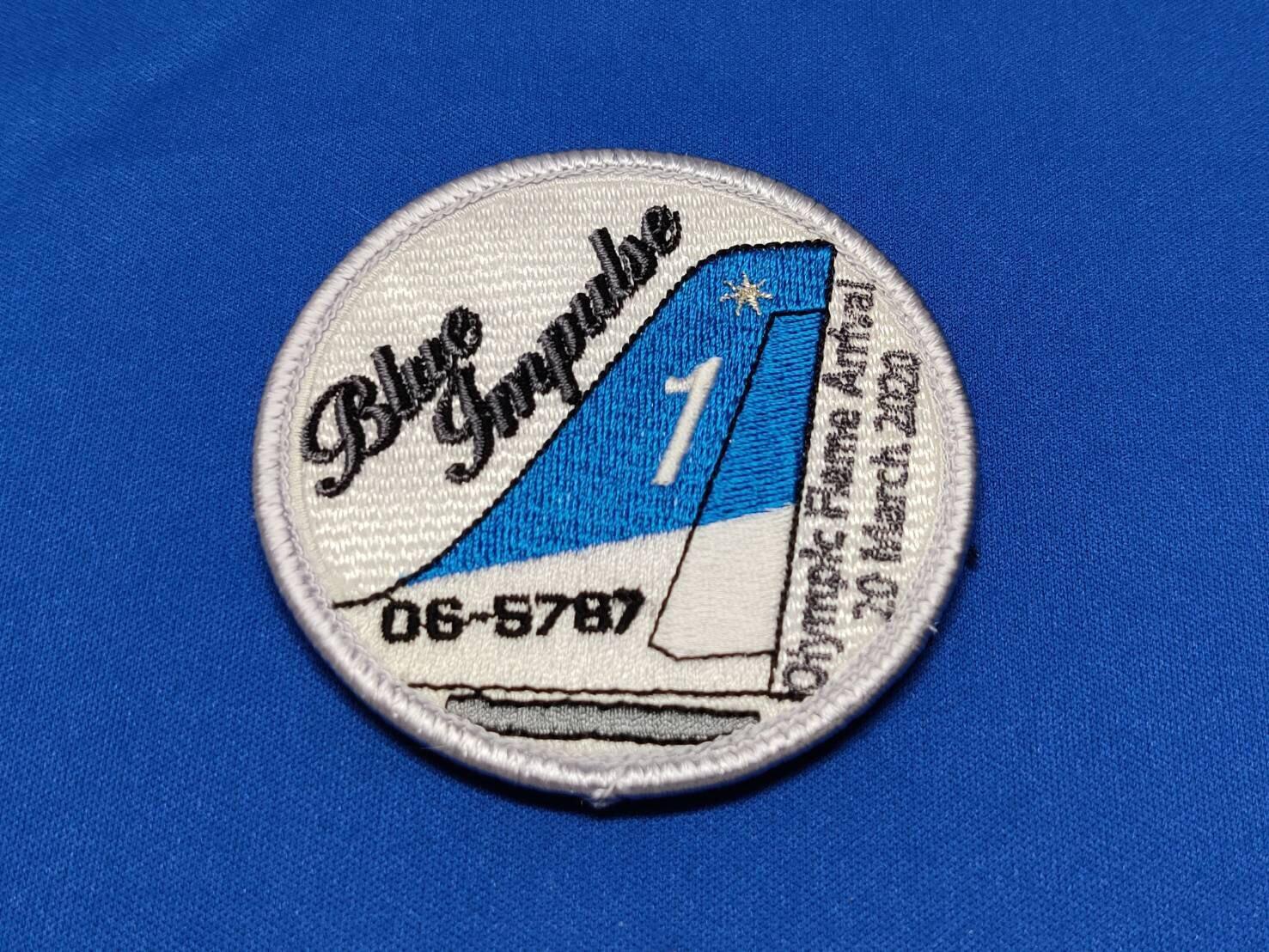 Blue Implse1(白)パッチ(ベルクロ)