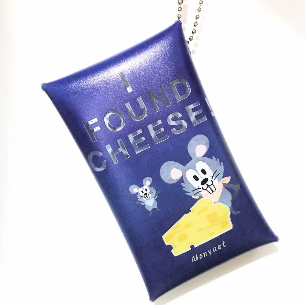 別 クリアマルチケース*チーズはここに!_あお_Sサイズ
