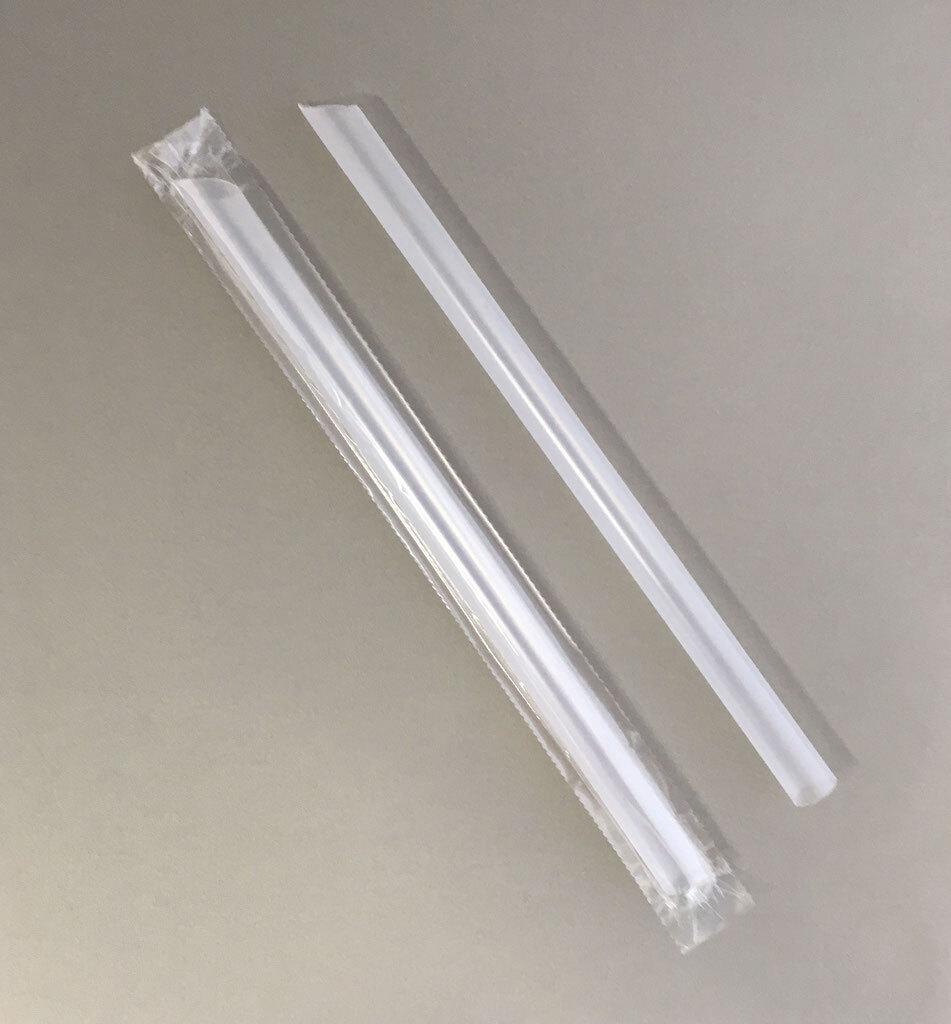 タピオカストロー 21cm ×直径12mm (透明)