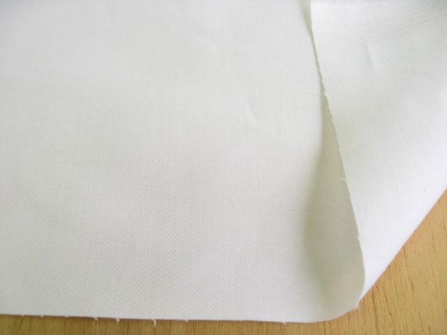 綿ストレッチ・チノクロス スノーホワイト(真白) CTM-0096