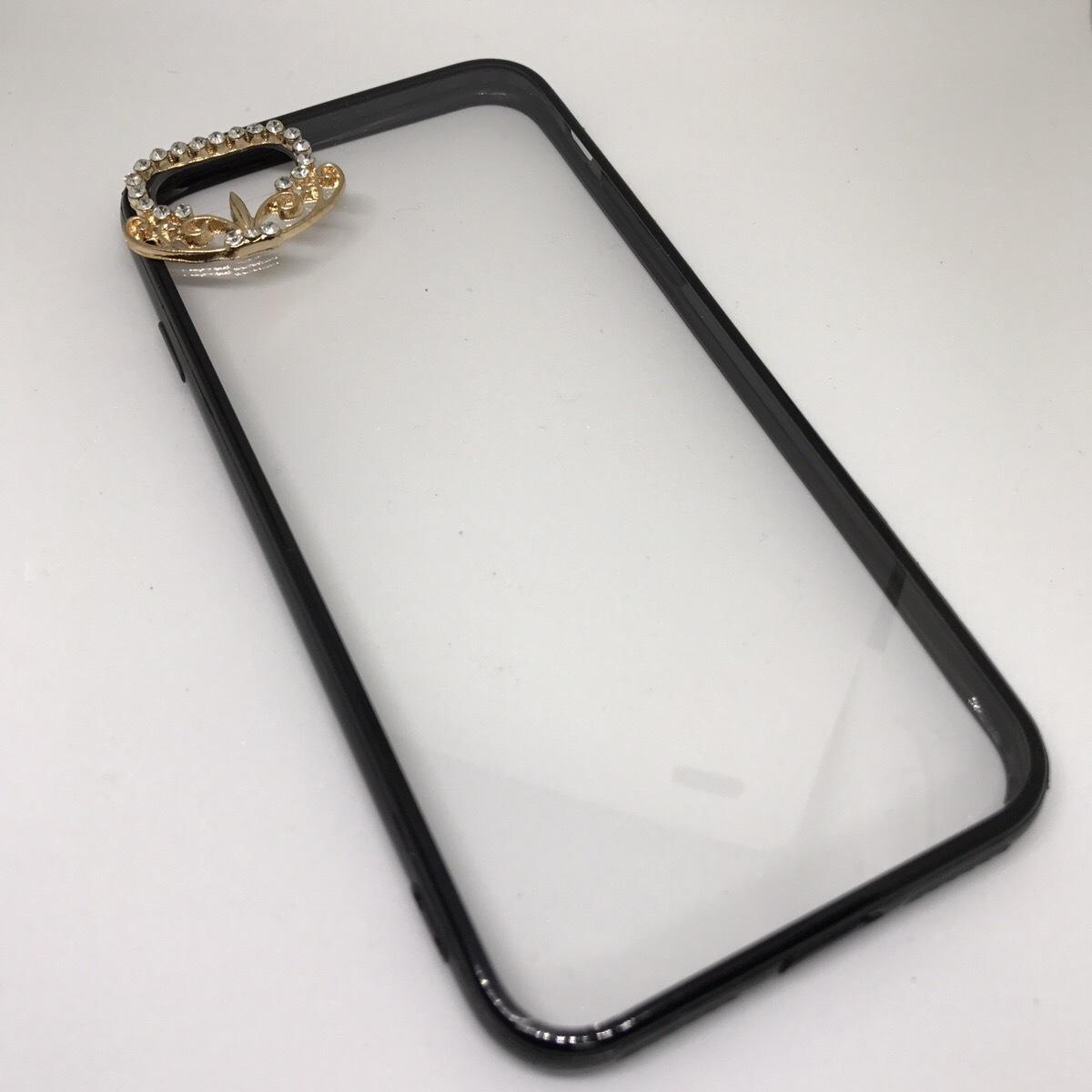 【送料無料】クリアケースにワンポイントジュエリー iPhoneケース