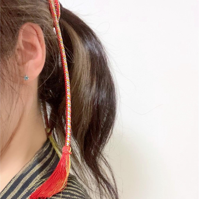 【組紐】レッド 房付き飾り紐