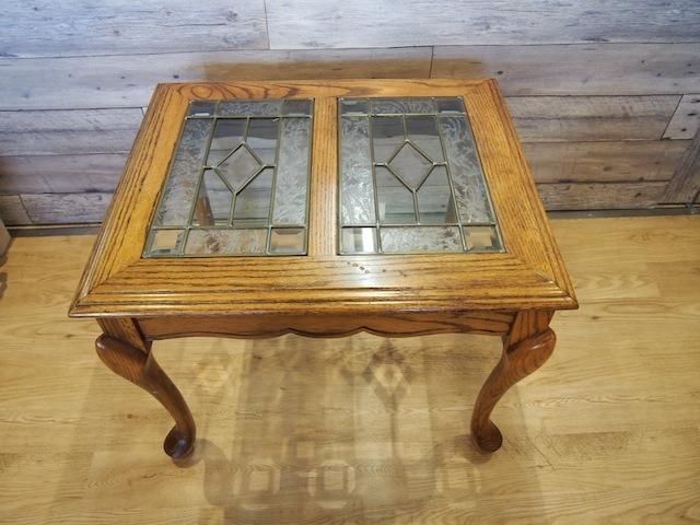 ステンドグラス アンティークガラステーブル