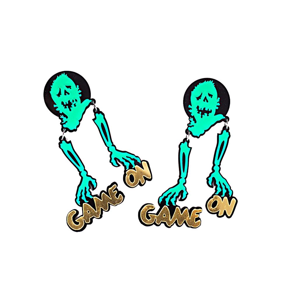 IUHA 【ユニークシリーズ】幽霊のデザイン ピアス 個性的 パーティー ギフト プレゼント  iuha1991710009