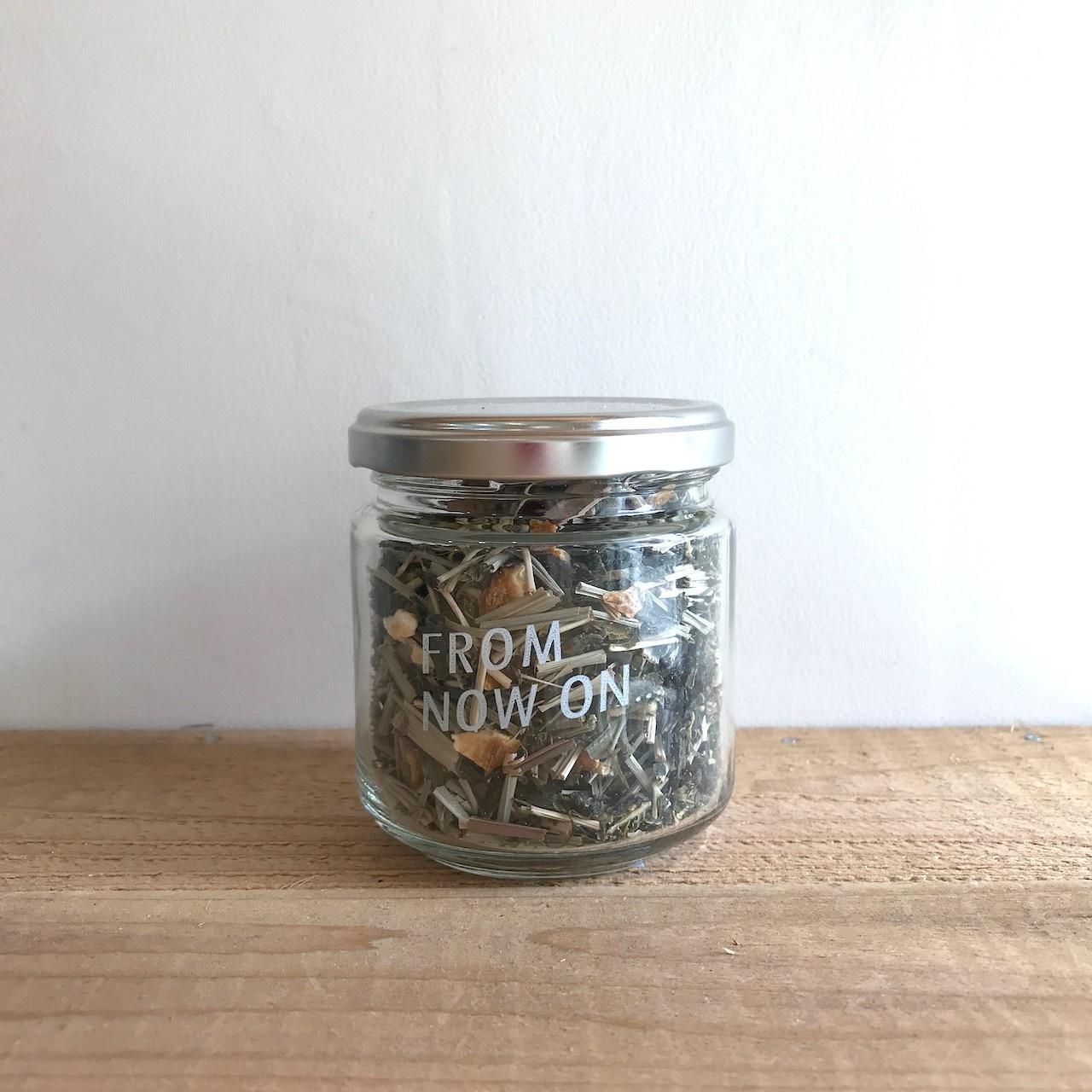 """【今だけ送料無料】"""" FNO Lemongrass & Yuzu flavored greentea / レモングラス&ゆず フレーバーグリーンティー ガラスS 50g """""""