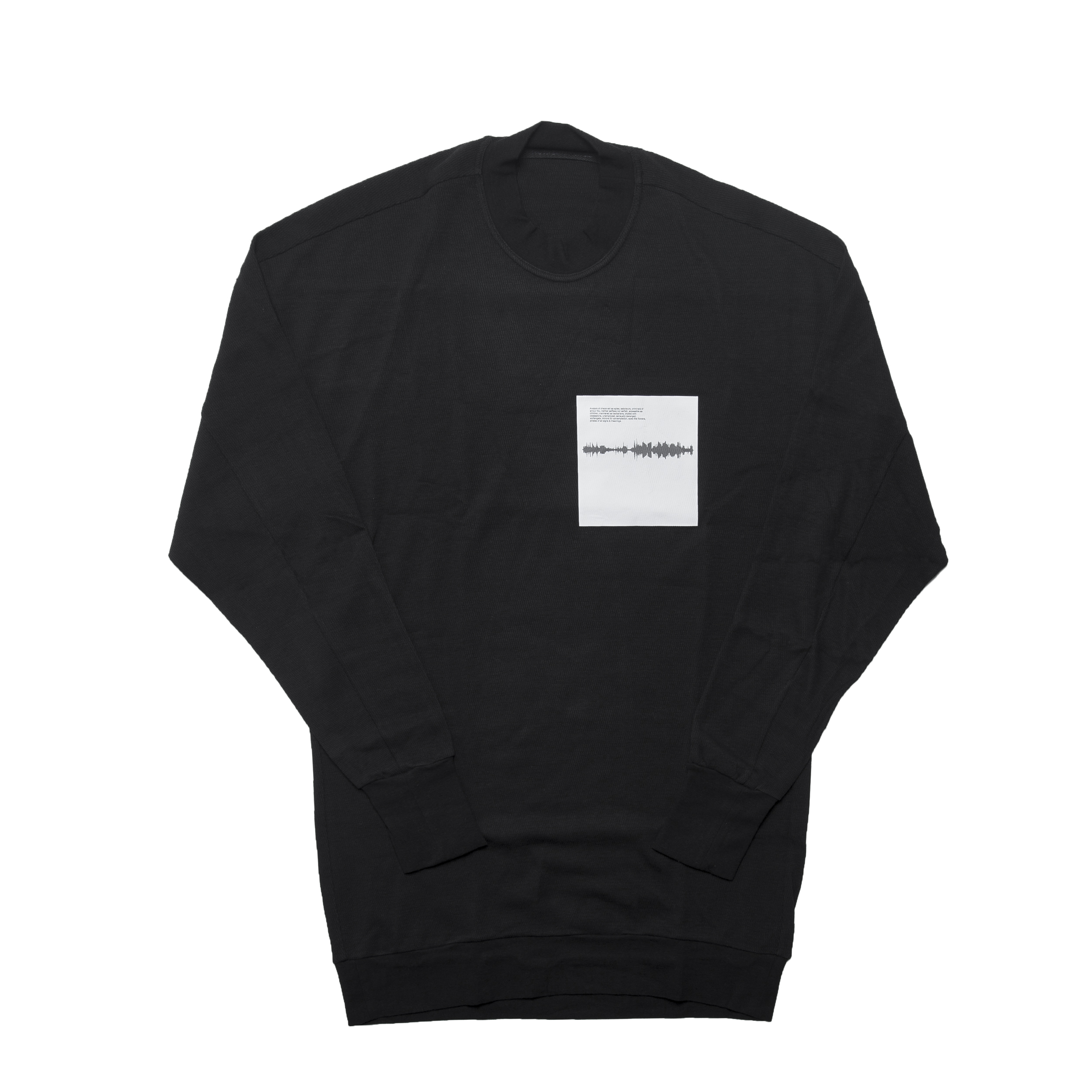677CPM16-BLACK / Shaped Noise ロングスリーヴ Tシャツ