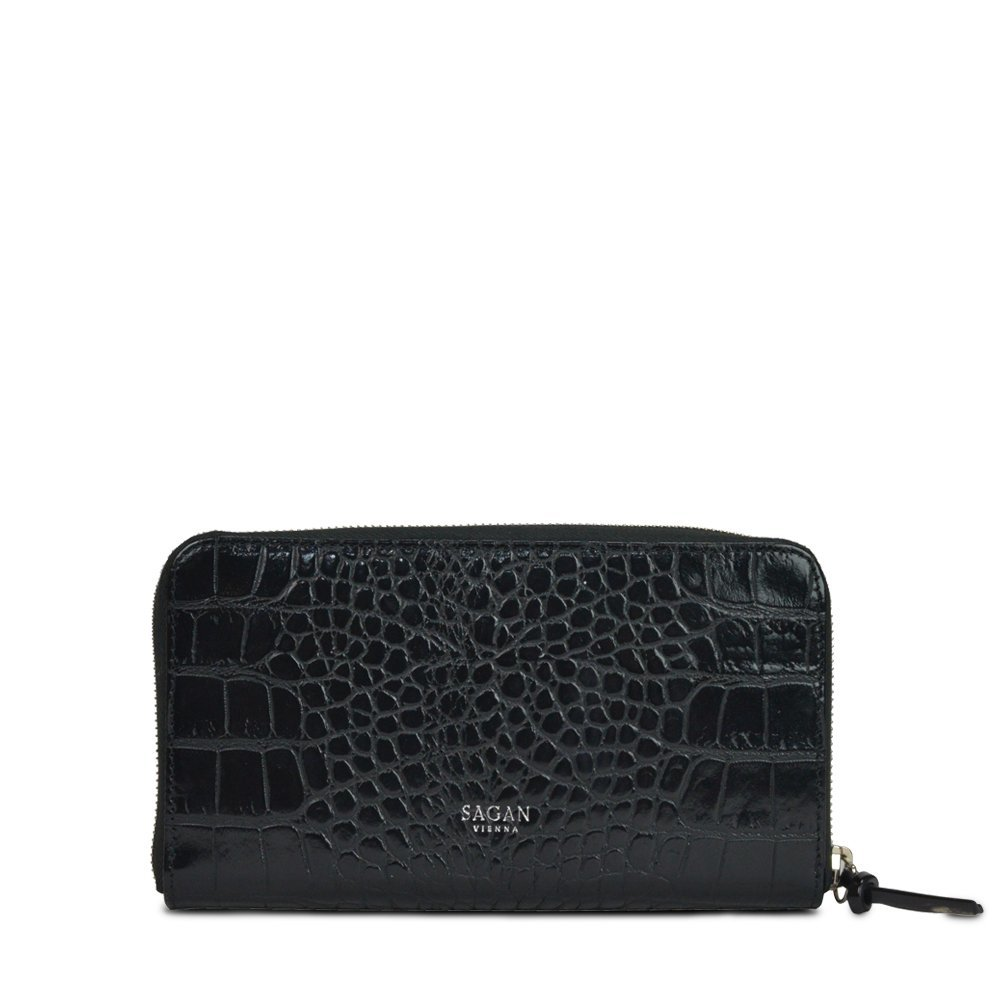 WALLET LONG BLACK with HORN PULLER