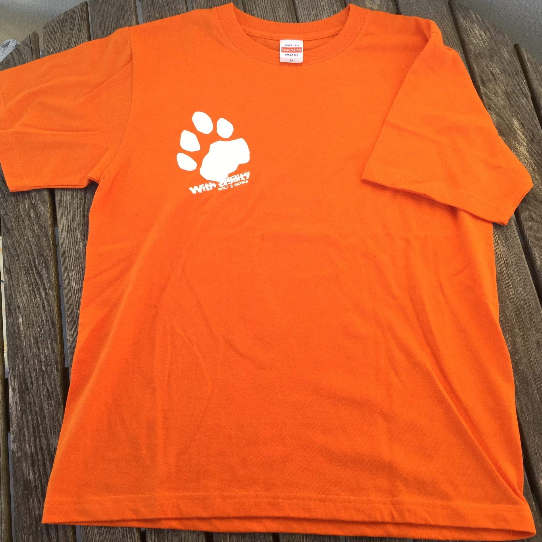 雪豹Tシャツ オレンジ