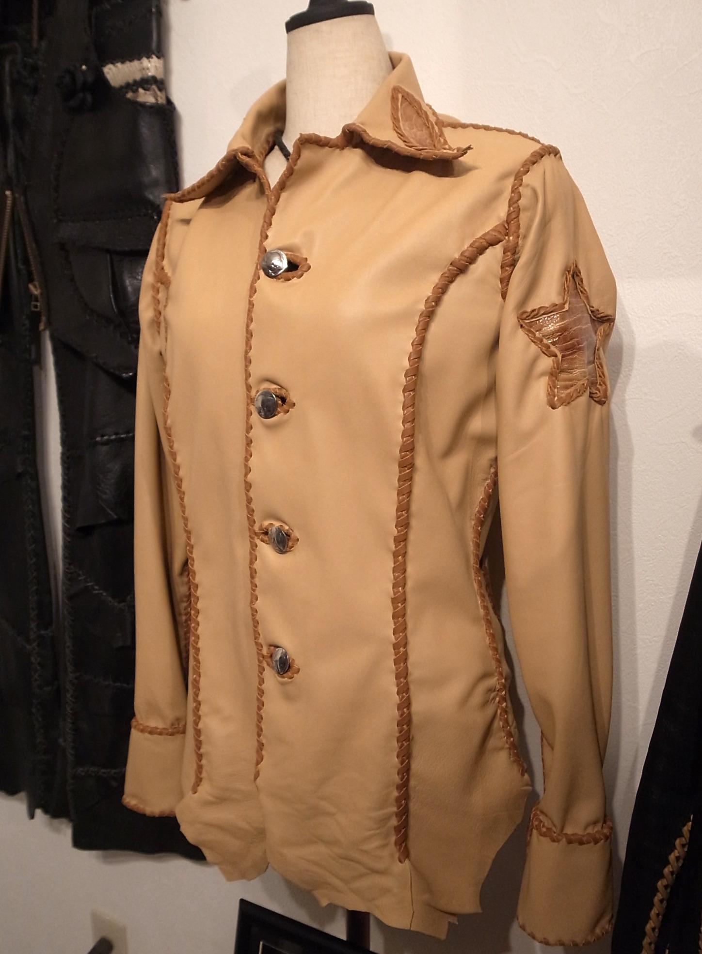 限定1着!オーストレッグ&ラムスキン・シャツジャケット(TG-002)