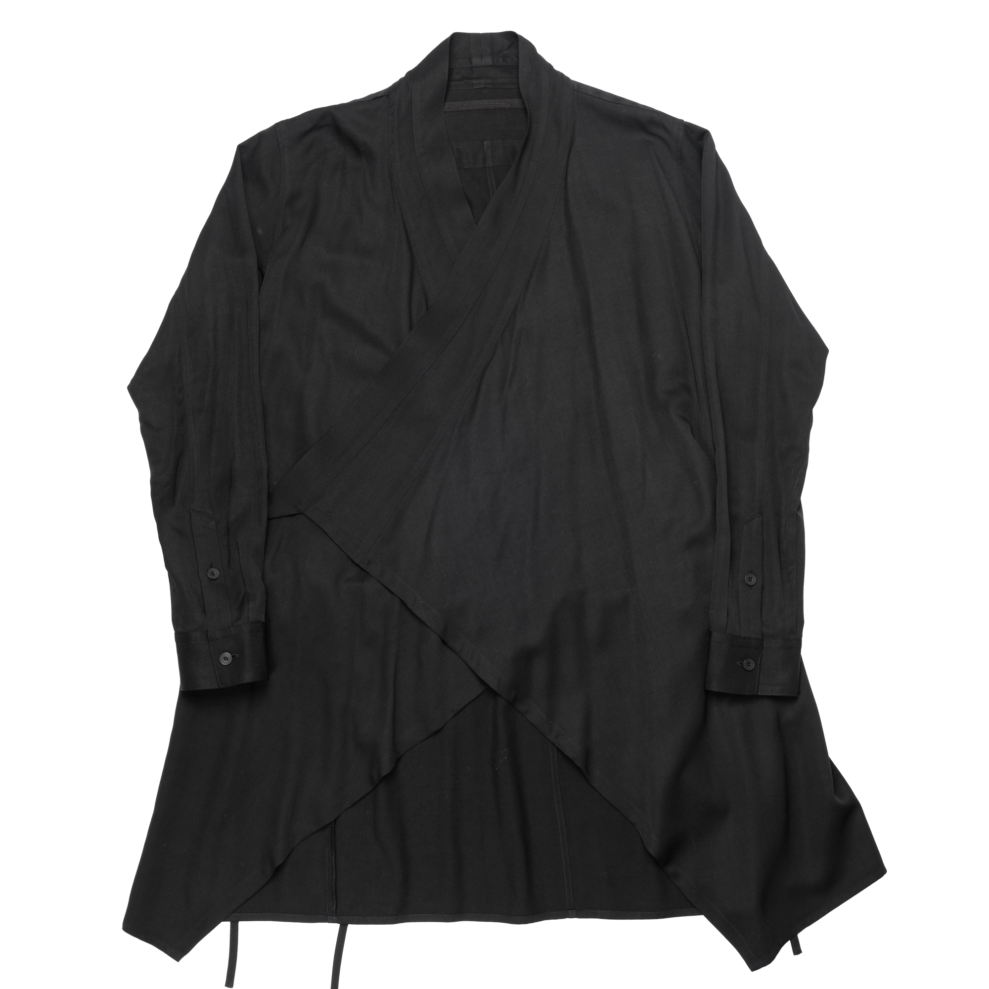 647SHM1-BLACK / Wラッピングシャツジャケット