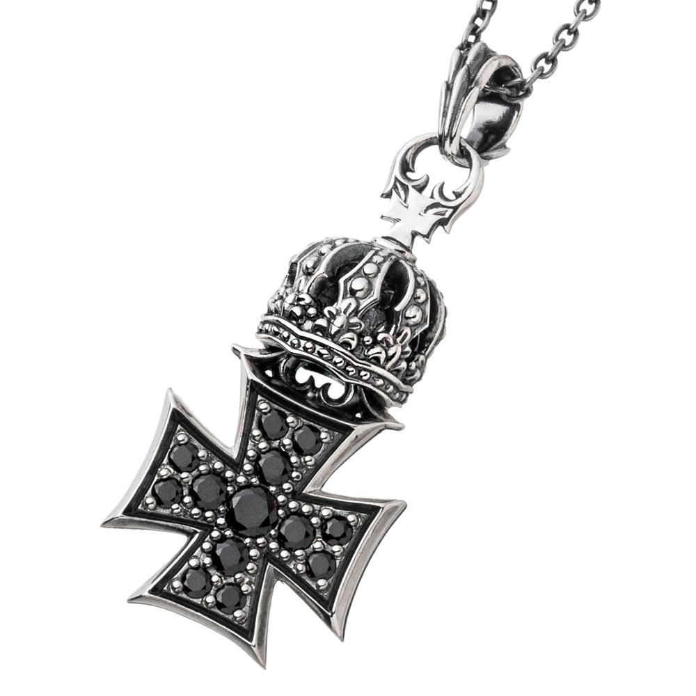 クラウンアイアンクロスペンダント AKP0123 Crown iron cross pendant