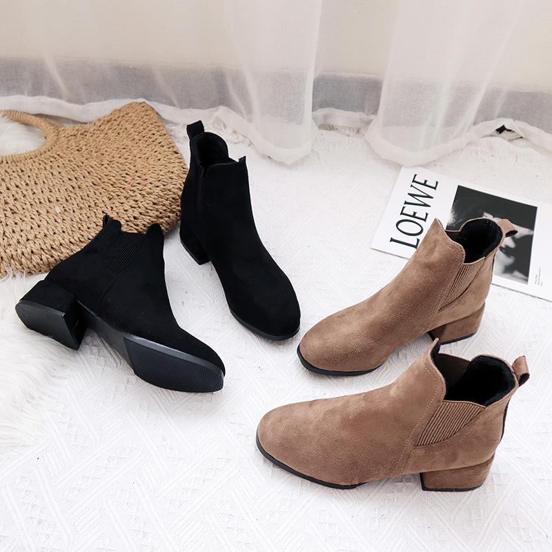 【shoes】新作一目惚れ切り替えカジュアルブーツ23581838