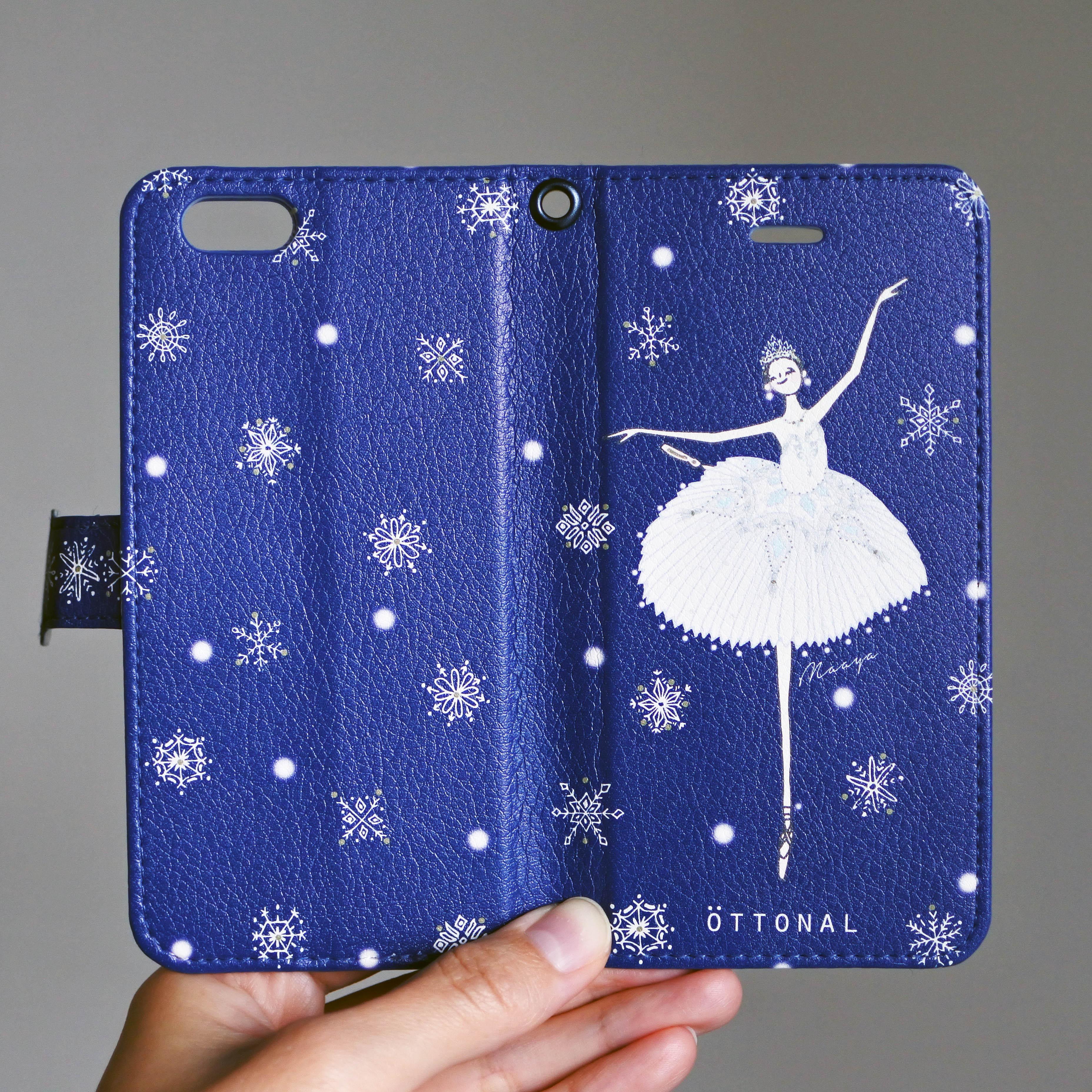 (iPhone)雪の女王 手帳型スマホケース - 画像1