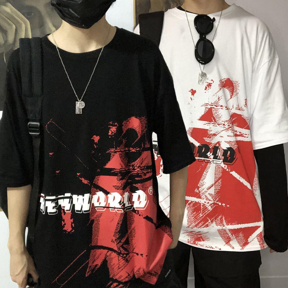 ユニセックス Tシャツ 半袖 メンズ レディース イレギュラーペイント オーバーサイズ 大きいサイズ ルーズ ストリート