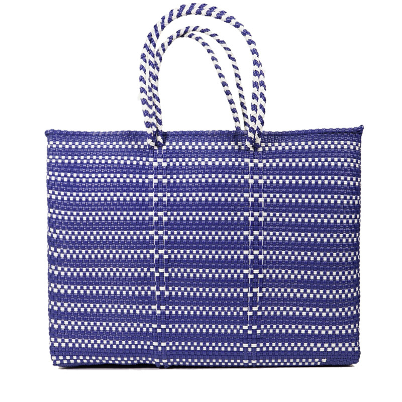MERCADO BAG BORDER - NAVY (L)
