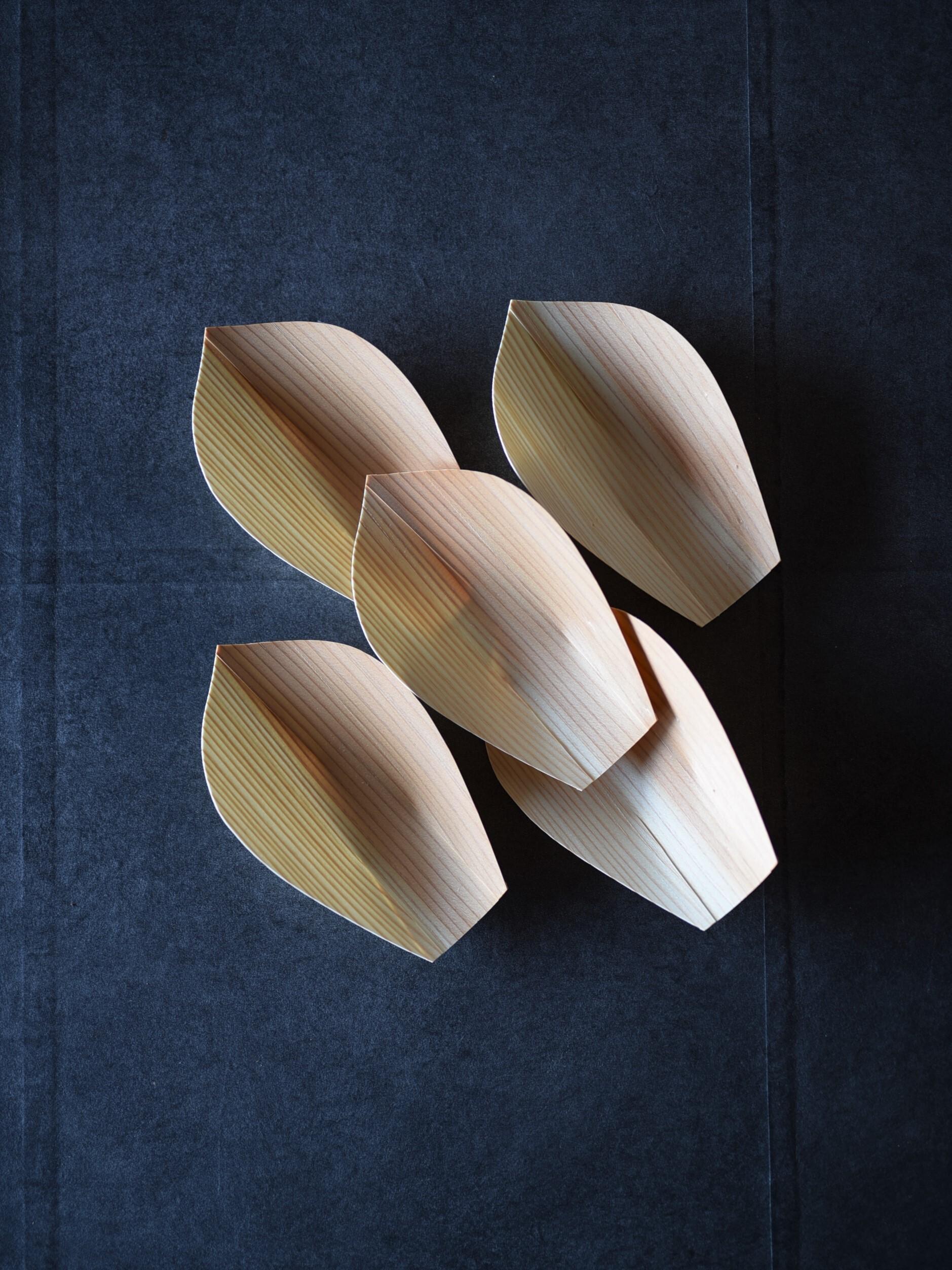 川合優 | 経木の蓮弁皿 小(5枚セット)