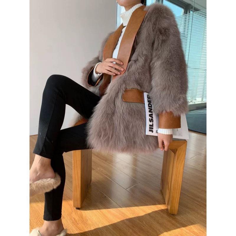 volume fur tailored jacket