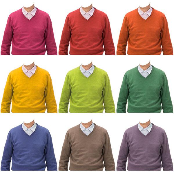 男性Vネックセーター色違い9種類セット