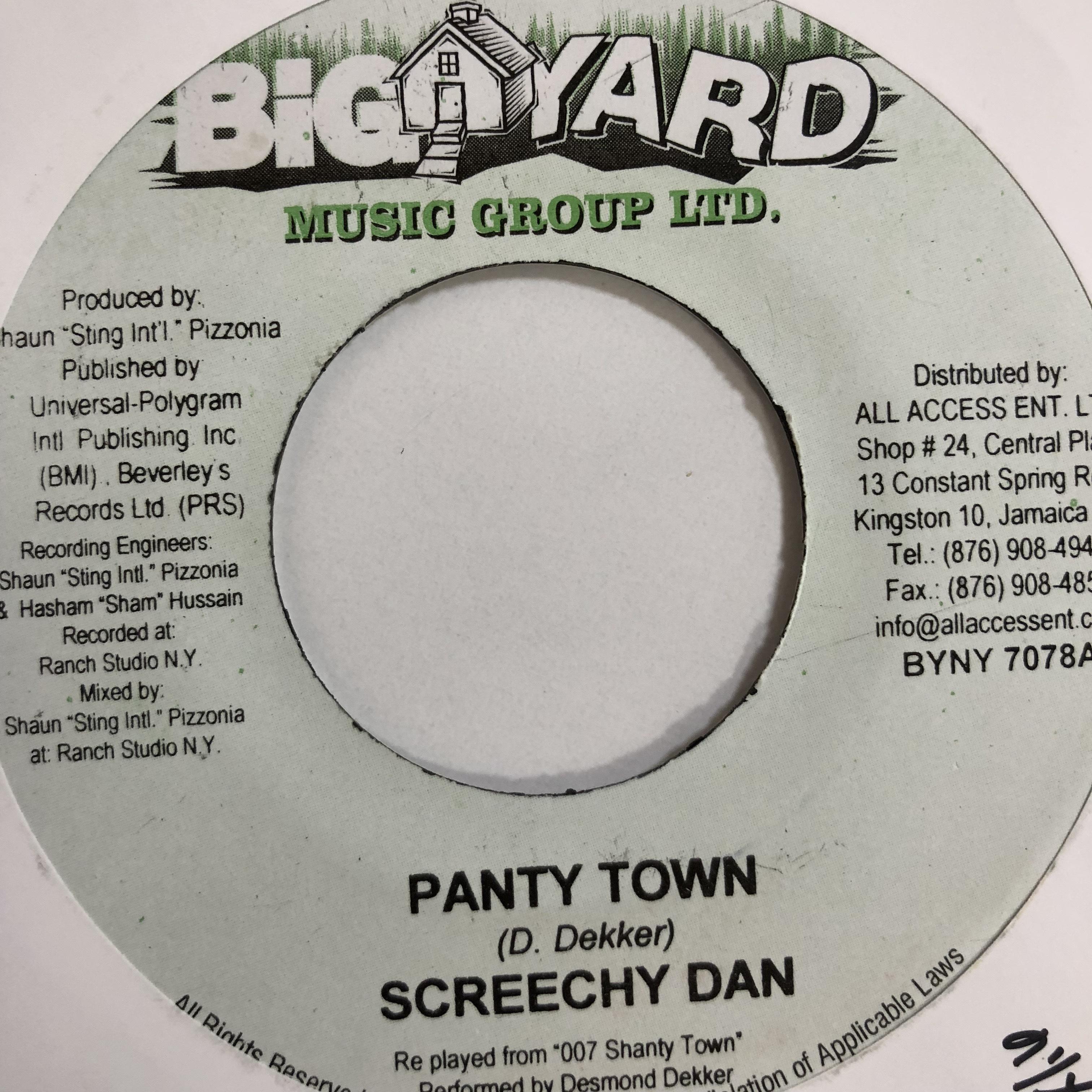 Screechie Dan(スクリーチーダン) - Panty Town【 7'】
