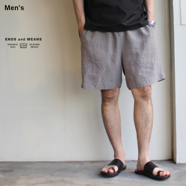 ENDS and MEANS イージーベーカーショーツ Easy Baker Shorts EM191P013 (グレー)