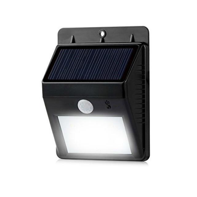 ソーラー充電式LEDライト 太陽光で充電して夜は照明に!人感センサー内蔵 ミスターブライトニング