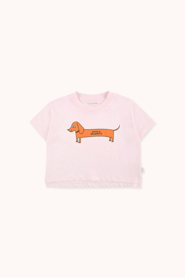 """TINYCOTTONS タイニーコットンズ """"OTTO IL BASSOTTO"""" CROP TEE size:2Y(95-100)-8Y(120-130)"""