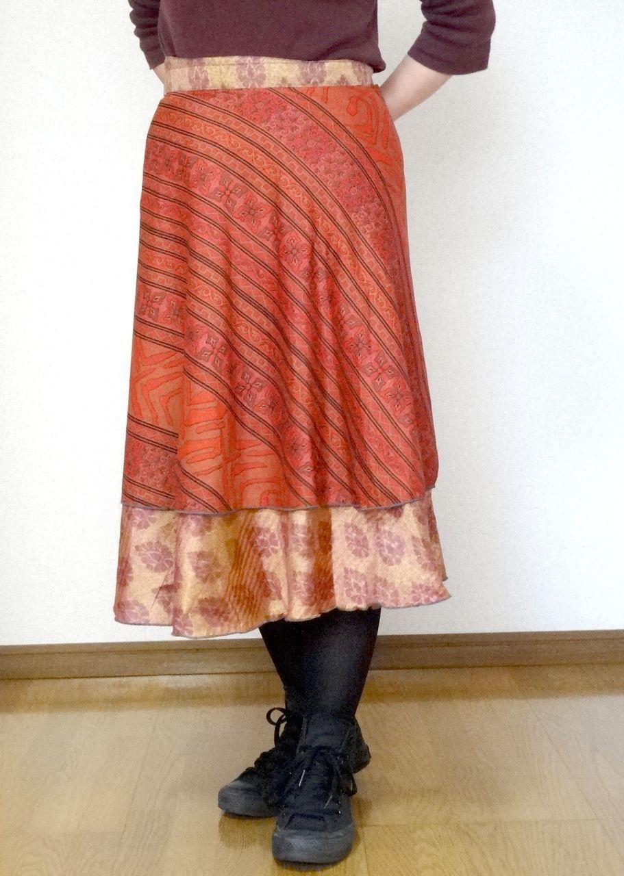 dss-012 シルクサリー巻きスカートショート